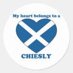 Chiesly Round Sticker