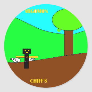 chif with migo.png round stickers