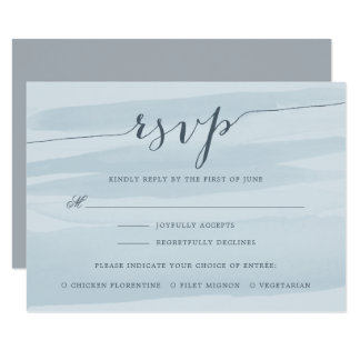 Chiffon RSVP Card with Meal Choice | Sky