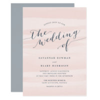 Chiffon Watercolor Wedding Invitation | Blush
