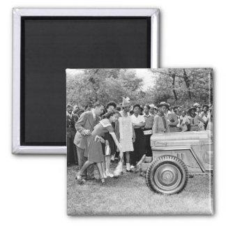 Chigago Children Do Their Part in WW2 2 Inch Square Magnet