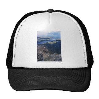 Chignik Mountain and lagoon Trucker Hats