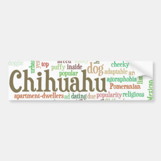 Chihuahu Bumper Sticker