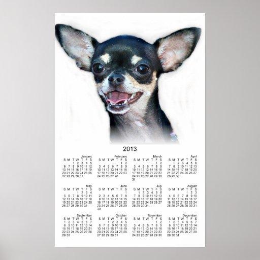 Chihuahua 2013 calendar poster