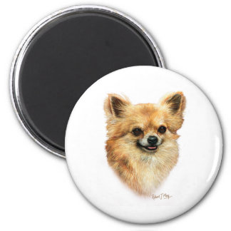 Chihuahua 2 Inch Round Magnet