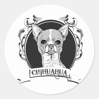 CHIHUAHUA 2 PEGATINAS REDONDAS