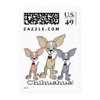 Chihuahua 302 - 03 del dibujo animado sellos