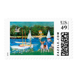 Chihuahua 4 - Sailboats Postage Stamps
