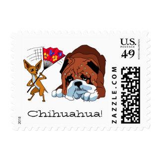 Chihuahua 725 - 2 del dibujo animado sello