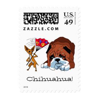 Chihuahua 725 del dibujo animado franqueo