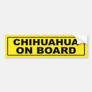 Chihuahua a bordo pegatina de parachoque