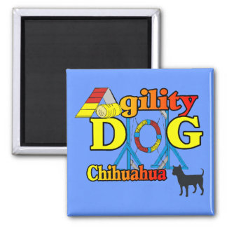 Chihuahua_Agility 2 Inch Square Magnet