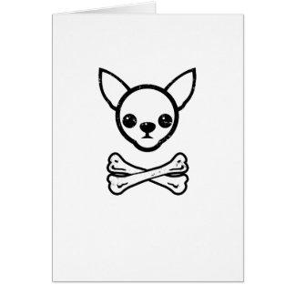 Chihuahua and bones (editable) greeting card