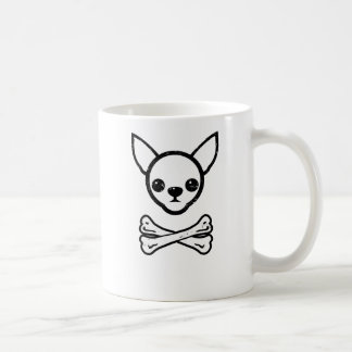 Chihuahua and bones (editable) coffee mug