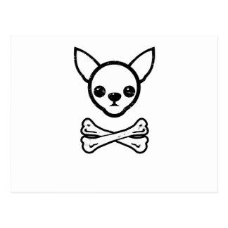 Chihuahua and bones (editable) postcard