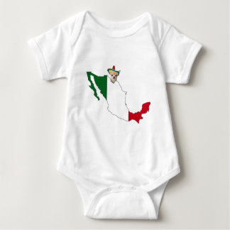 CHIHUAHUA AND MEXICO BABY BODYSUIT