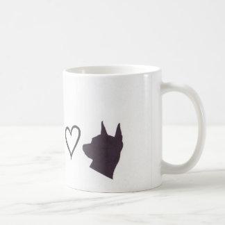 Chihuahua and Min Pin Love Coffee Mug