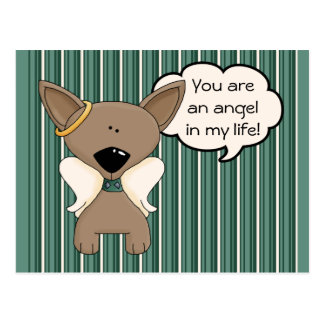 Chihuahua Angel Dogs Heavenly Reminder Postcard