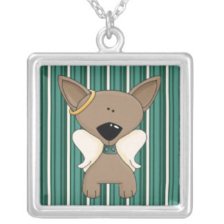 Chihuahua Angel Dogs Keepsake Necklace Silver