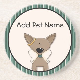 Chihuahua Angel Dogs Memory Keepsake Name Coaster