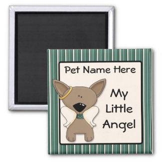 Chihuahua Angel Dogs Memory Keepsake Name Gift 2 Inch Square Magnet