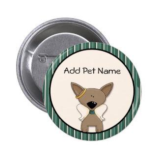 Chihuahua Angel Dogs Memory Keepsake Name Pin