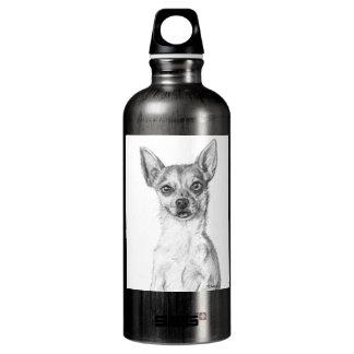 Chihuahua Art Aluminum Water Bottle
