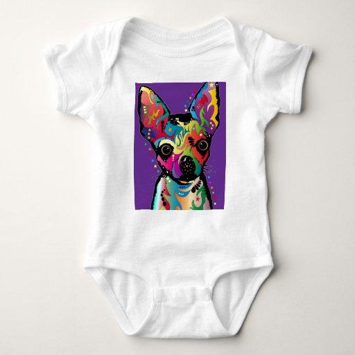 Chihuahua Art Baby Bodysuit
