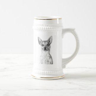 Chihuahua Art Beer Stein