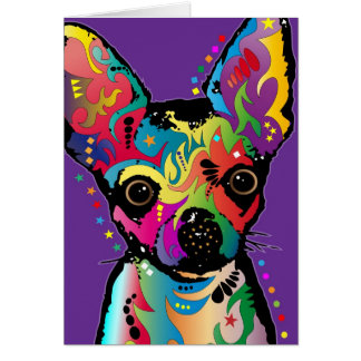 Chihuahua Art Card