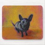 Chihuahua art cute black dog original painting mousepads