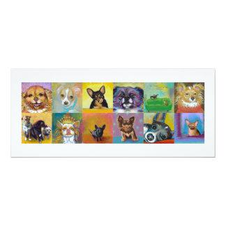Chihuahua art fun Fierce and Proud little dogs Card