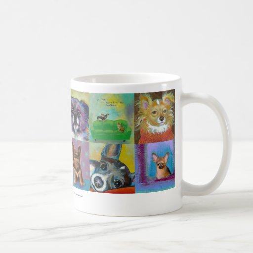 Chihuahua art fun Fierce and Proud little dogs Coffee Mug