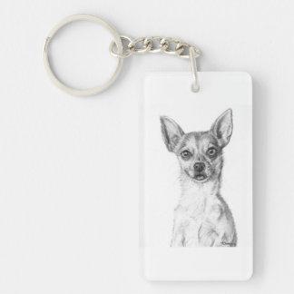 Chihuahua Art Keychain