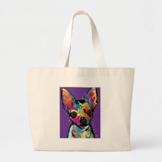 Chihuahua Art Large Tote Bag