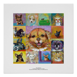 Chihuahua art poster fun colorful paintings