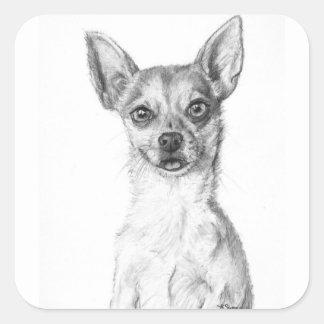 Chihuahua Art Square Sticker