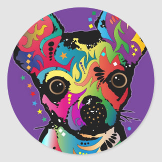 Chihuahua Art Sticker