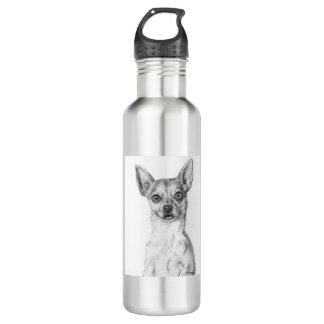 Chihuahua Art Water Bottle
