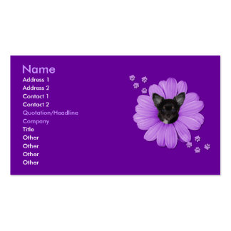 Chihuahua astuta adorable 4 del cielo tarjetas de negocios