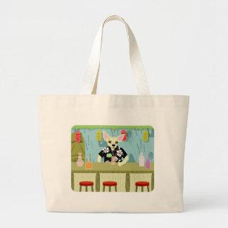 Chihuahua Bamboo Tiki Bar Canvas Bags