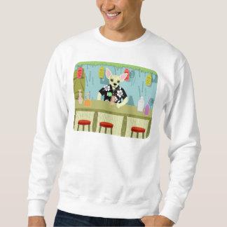 Chihuahua Bamboo Tiki Bar Pull Over Sweatshirts
