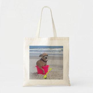 Chihuahua Beach Bum Tote Bag
