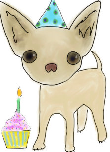 Image result for chihuahua birthday clipart