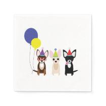 Chihuahua Birthday Napkins