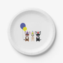 Chihuahua Birthday Party Paper Plates