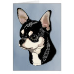 Chihuahua Black & Tan Card