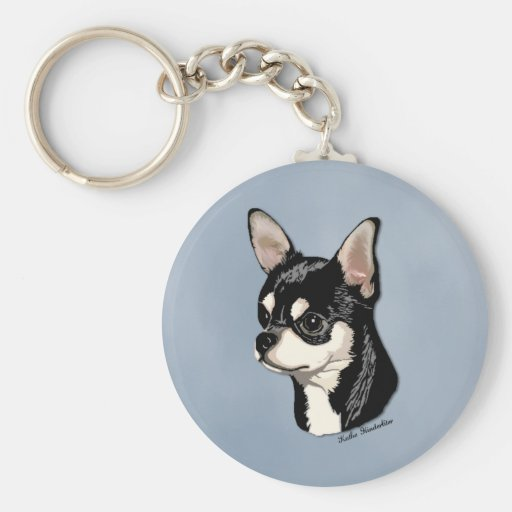 Chihuahua Black & Tan Keychain