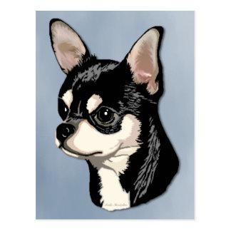 Chihuahua Black & Tan Postcard