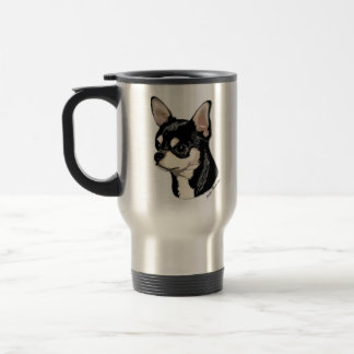 Chihuahua Black & Tan Travel Mug